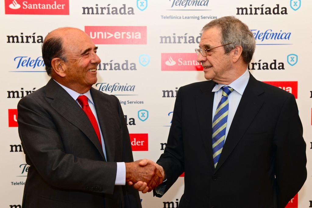 Emilio Botín y César Alierta